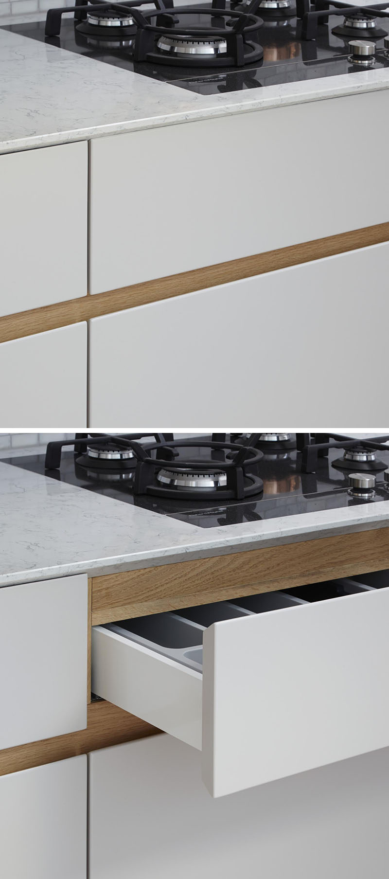 Merveilleux Kitchen Design Idea   Cabinet Hardware Alternatives // Include A Recessed  Groove In The Design