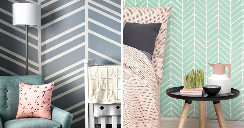feature wall design idea - a chevron accent wall | contemporist