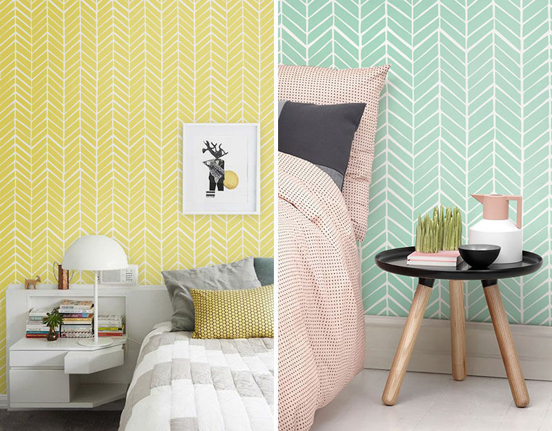 Feature wall design idea a chevron accent wall for Chevron template for walls