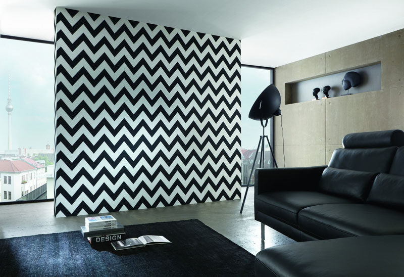 Accent Wall Designs accent wall diamond paint design finished product Feature Wall Design Idea Liven Up Your Walls With A Chevron Accent Wall