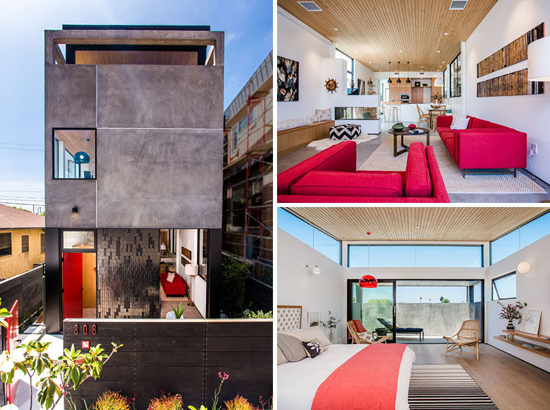 This multi-storey Californian home has a rooftop deck and bright interiors.