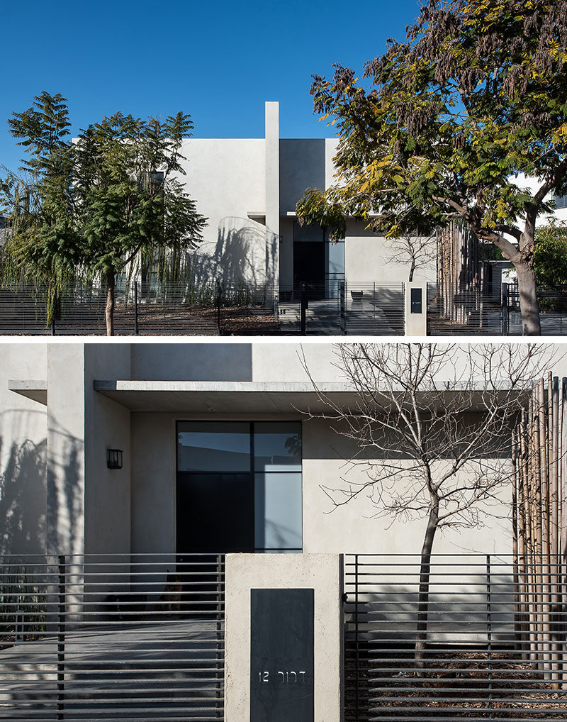 """NeumanHayner Architects have designed this """"L"""" shaped home in Tel Aviv, Israel, for a family of four."""