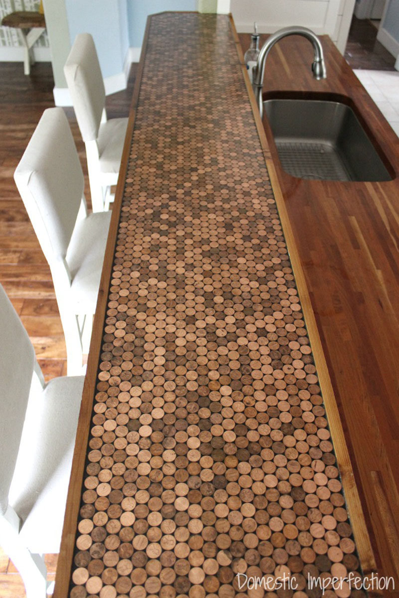 Kitchen design idea 5 unconventional materials you can for What to use for a bar top