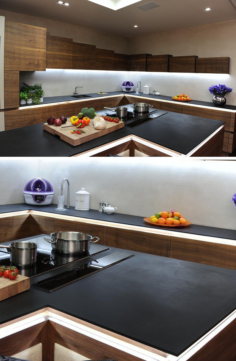 kitchen design idea 5 unconventional materials you can use for a countertop contemporist. Black Bedroom Furniture Sets. Home Design Ideas