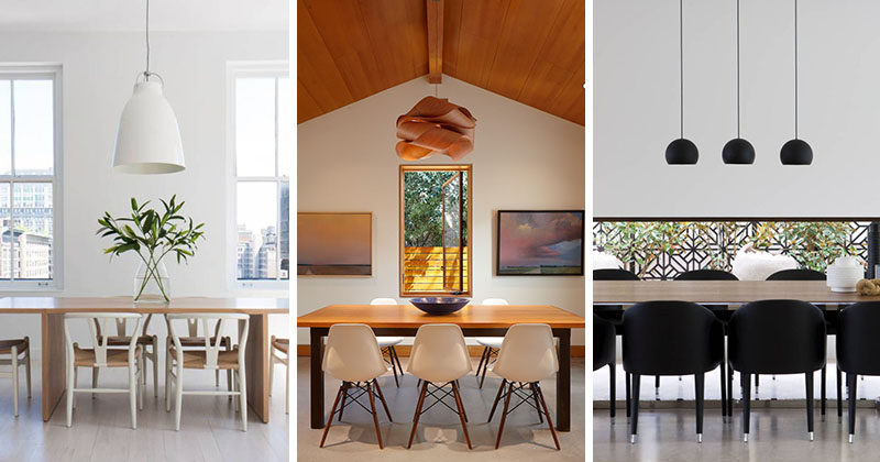 lighting design idea - 8 different style ideas for lighting above Different Dining Tables