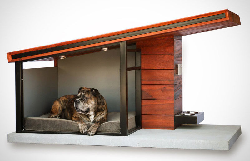 this modern dog house is designed to fit your home 39 s