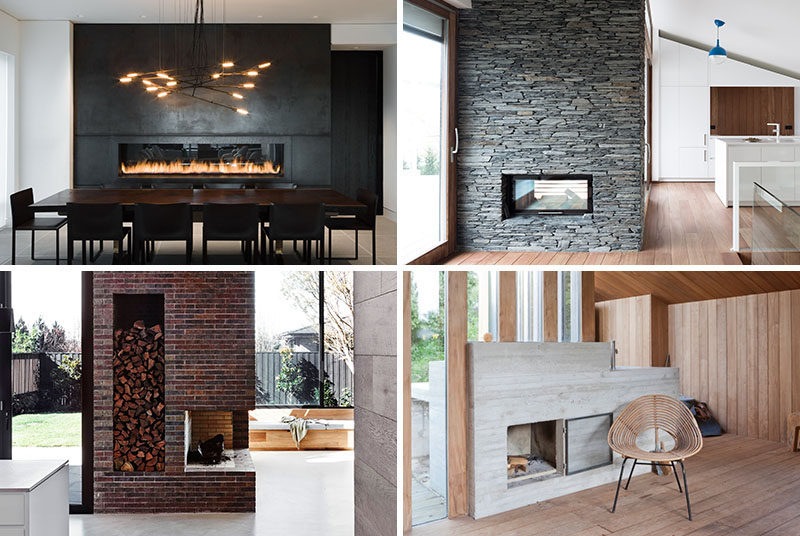 Fireplace Design Idea - 6 Different Materials To Use For A Fireplace Surround #FireplaceSurround #FireplaceIdeas #SteelFireplaceSurround