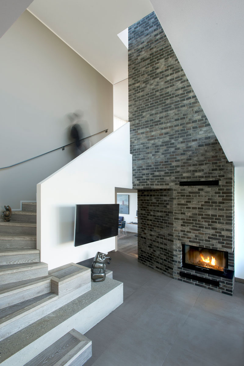 Fireplace design idea 6 different materials to use for a - How to make a brick fireplace look modern ...