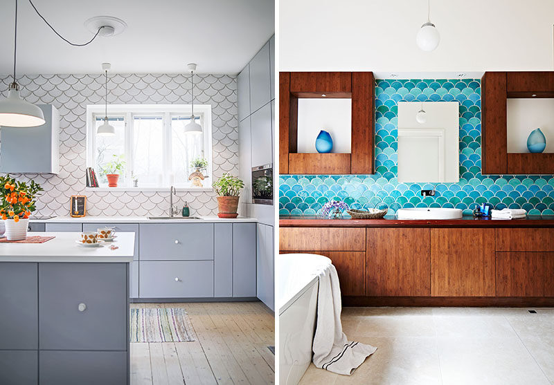 Wall Tile Idea - 5 Reasons Why You Should Get Creative With Fish Scale Tiles