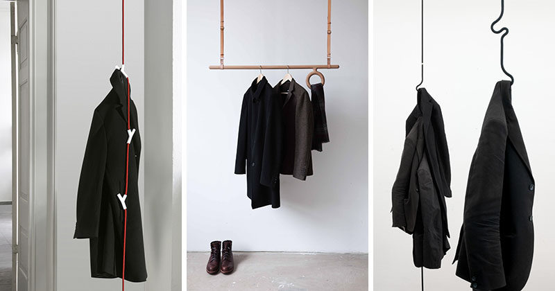 Interior Design Idea ? Coat Racks That Hang From The Ceiling
