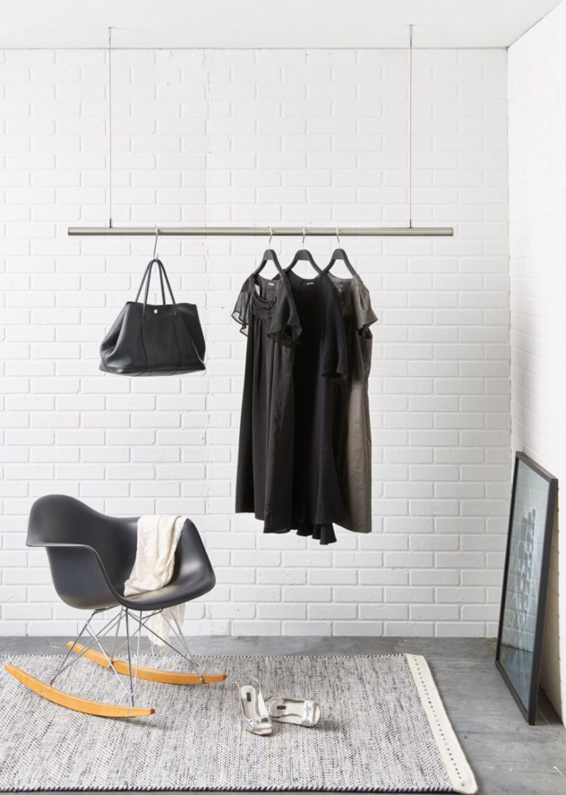 Interior Design Idea - Coat Racks That Hang From The Ceiling