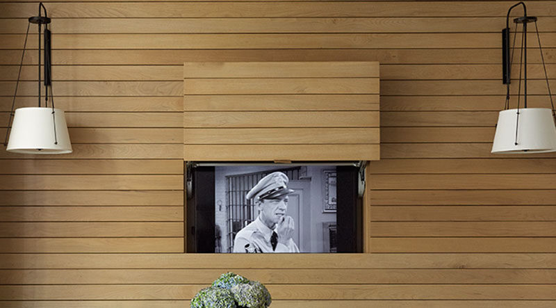 Tv Design Idea Hide Your Tv Within A Wall Contemporist