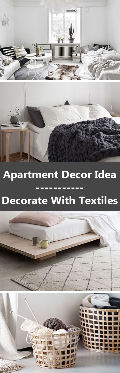 Apartment Decor Idea - Decorate With Textiles