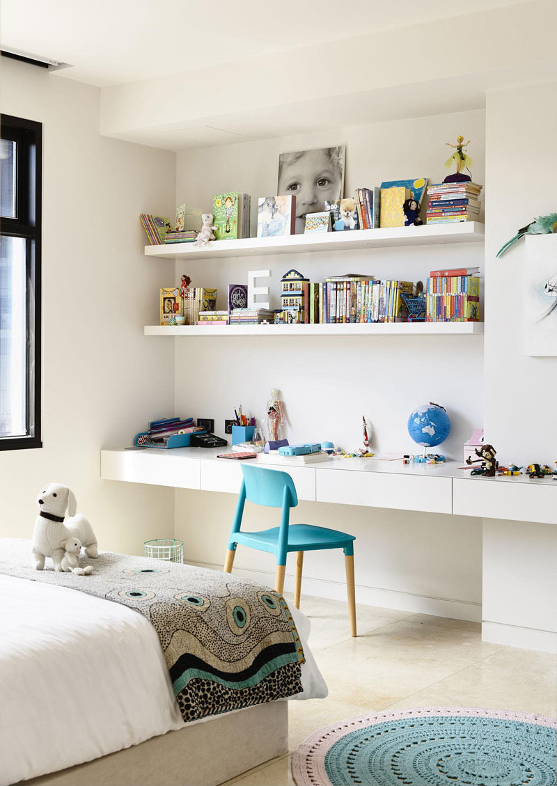 Interior Design Idea - 11 Essentials For Kids Homework Stations // Customizing the desk or table to their height makes it less likely for them to fidget as they try to reach their work surface.