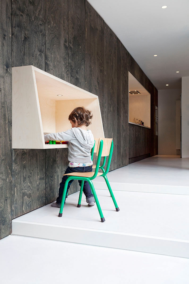 Interior Design Idea - 11 Essentials For Kids Homework Stations // Start 'em young -- Younger siblings always want to do what they see the older ones doing. Giving your youngest kids a spot similar to that of the study area ensures that the hardworking older siblings get the space they need and makes the little ones feel like they're big kids too.