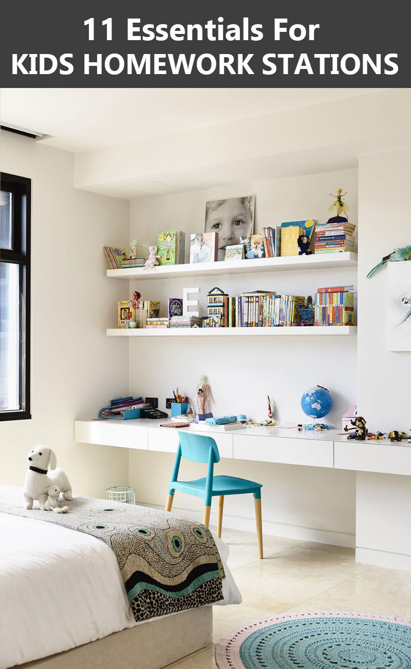 Interior Design Idea - 11 Essentials For Kids Homework Stations