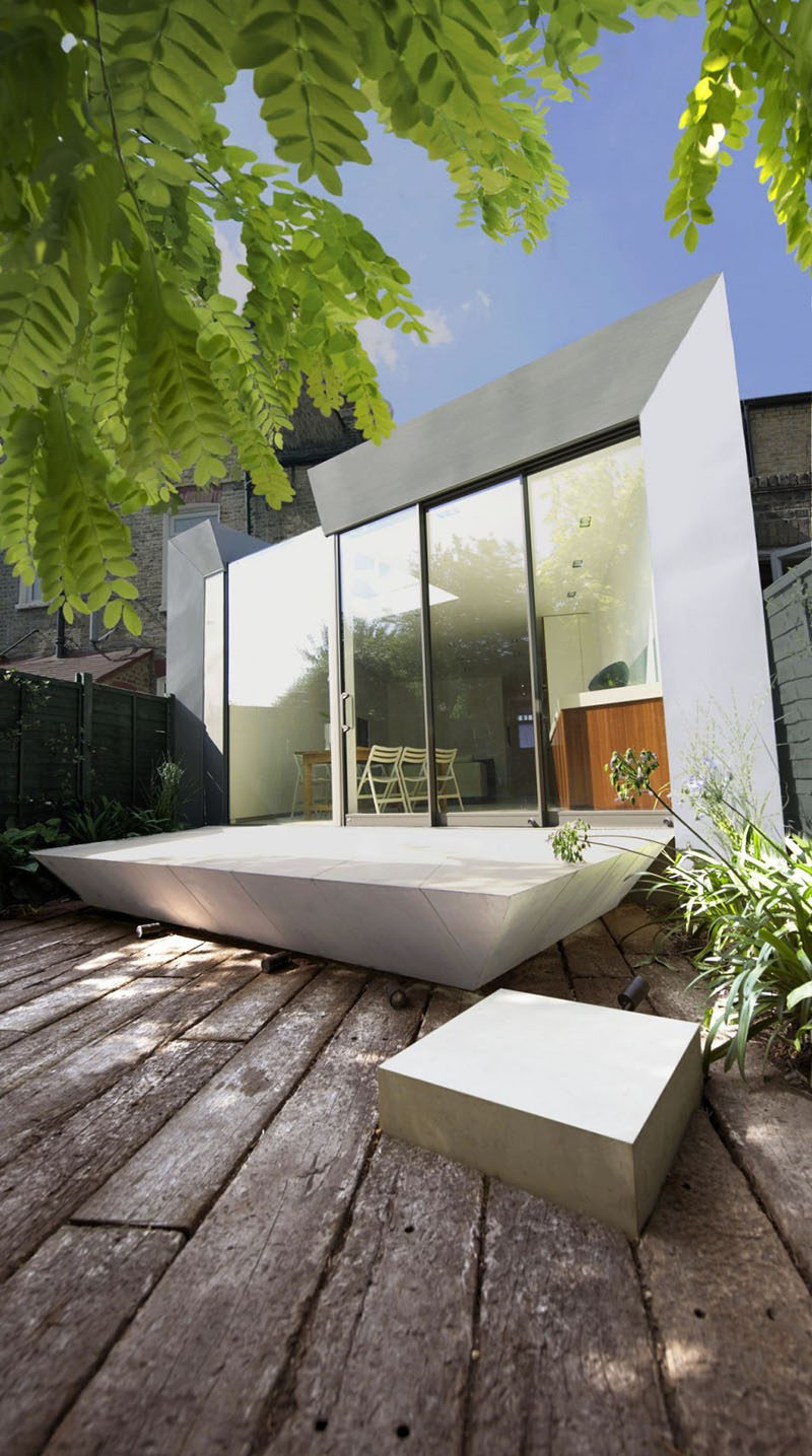 This contemporary house extension is attached to a home in Hammersmith, London.
