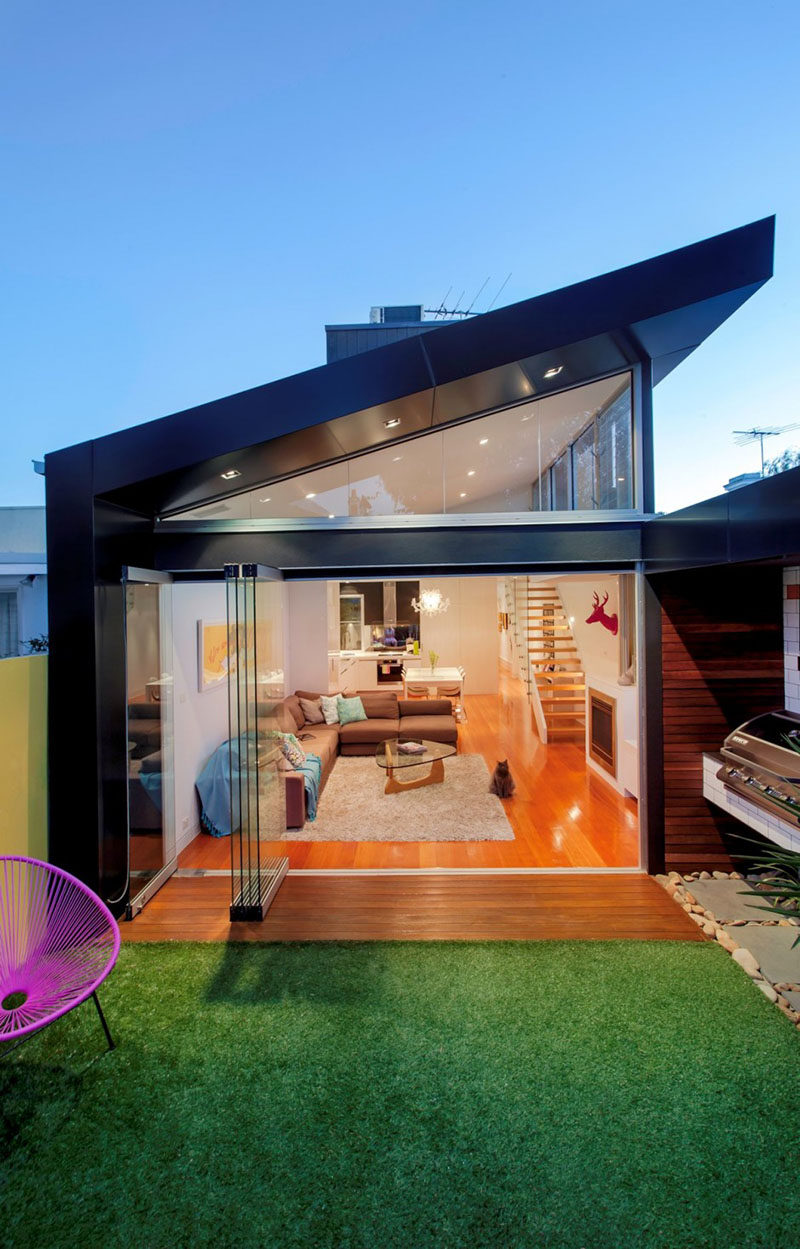 Sketch Building Design have completed a contemporary addition to a one bedroom Victorian terrace in Elsternwick, a suburb of Melbourne, Australia.