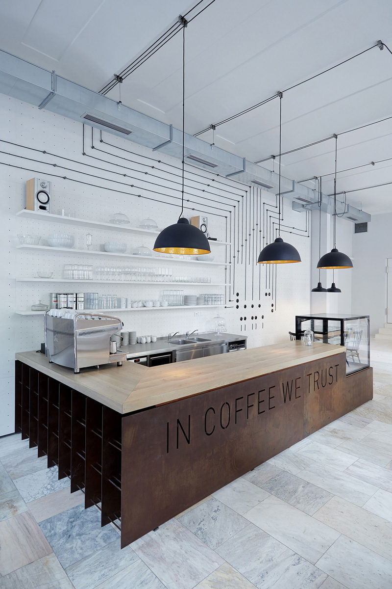This cafe/bistro in Prague connects with the coffee crowd.