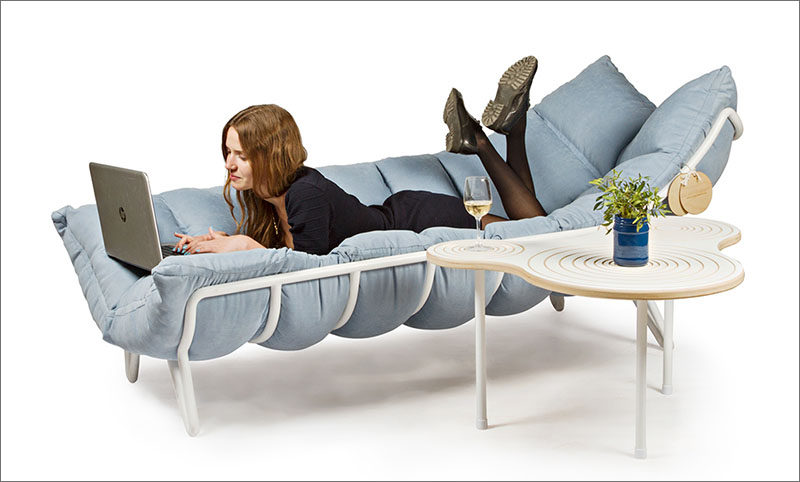 The Inchworm, a sun lounger designed by Alexandra Knyazevoy.