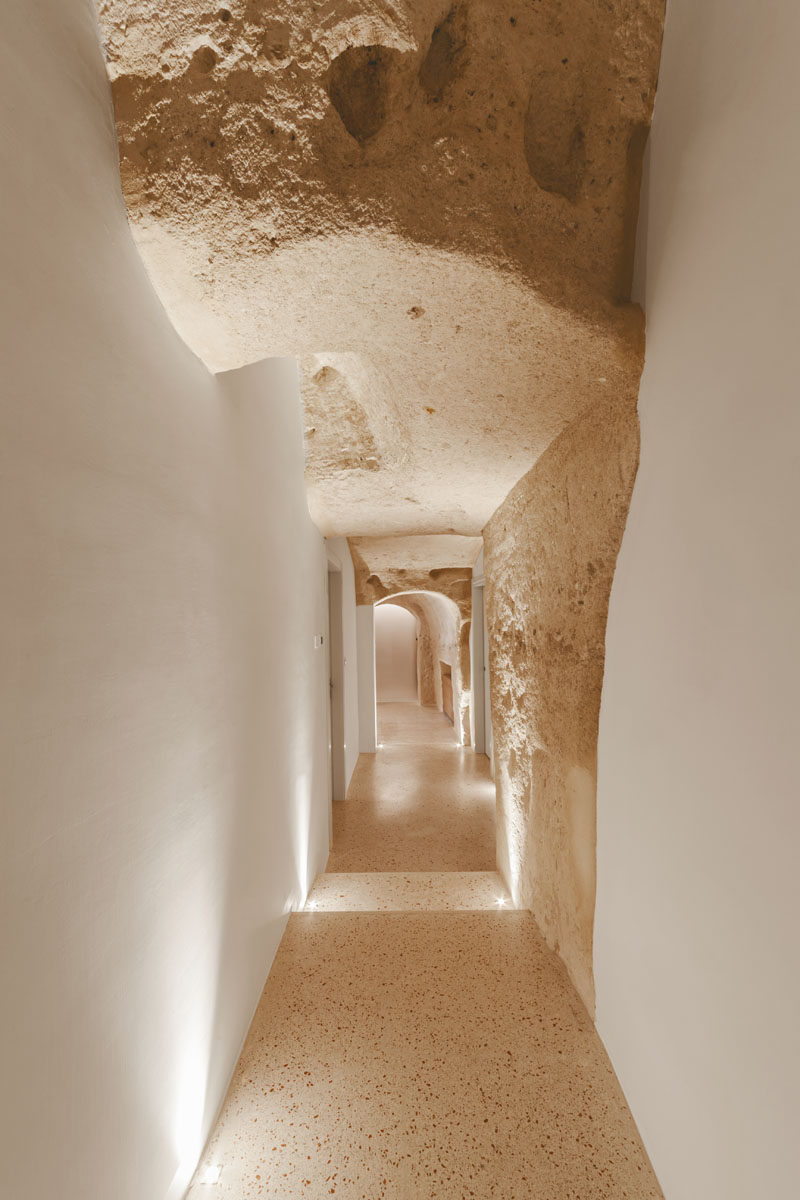 La Dimora di Metello, a hotel in Matera, Italy, combines historic cave-dwellings with contemporary design.