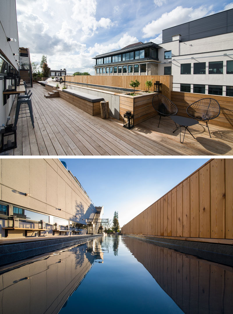 The Jam Hotel in Brussels has a rooftop terrace and pool area.