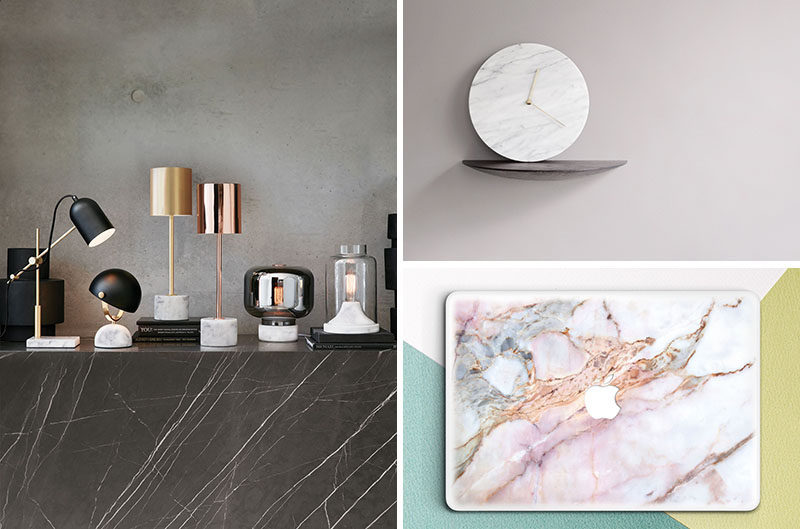Office Decor Idea - Add A Touch Of Marble