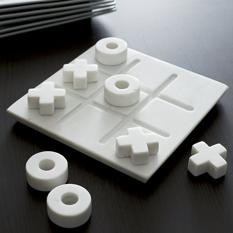 Office Decor Idea - Add A Touch Of Marble // Sometimes you need to take a little break from work; and what better way to take a break than playing a game.
