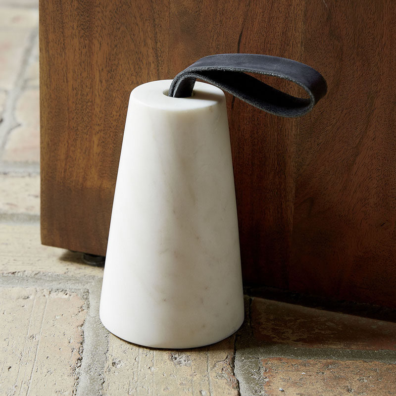 Office Decor Idea - Add A Touch Of Marble // Don't forget your floor, keep your office door open with a stylish marble door stop.