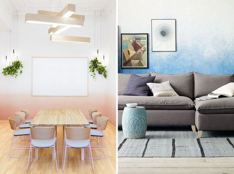 Wall Decor Idea – Create An Ombre Look For A Soft Artistic Accent Wall