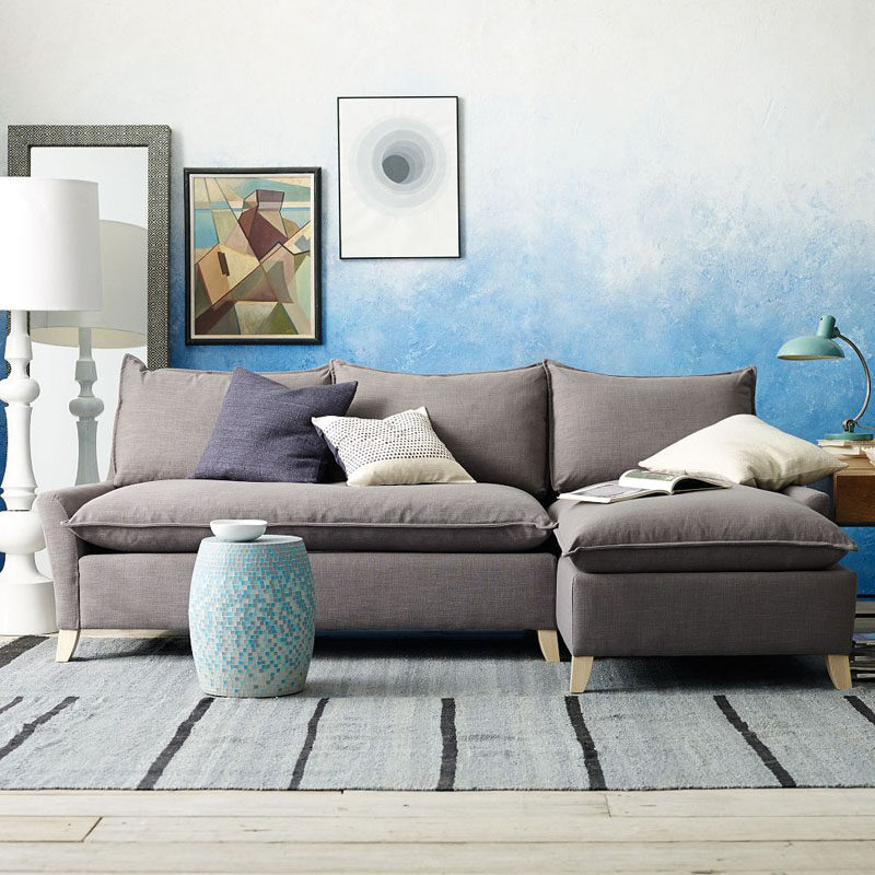 ACCENT WALL IDEA - Create An Ombre Look For A Soft Artistic Accent Wall