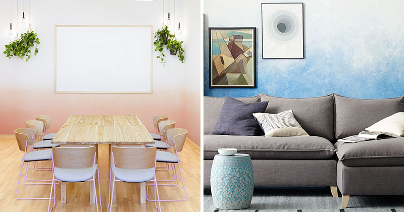 Wall Decor Idea - Create An Ombre Look For A Soft Artistic Accent Wall