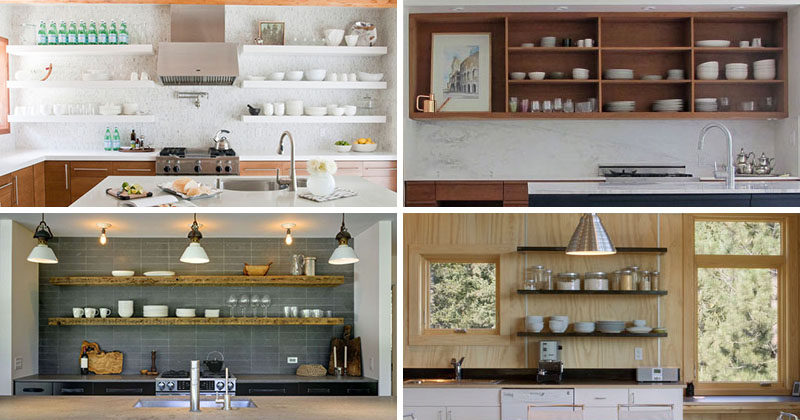 kitchen design idea open shelving 19 photos - Kitchen Design Idea