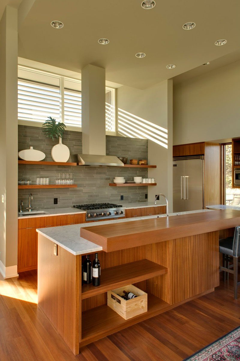 kitchen island with open shelves kitchen design idea 19 exles of open shelving contemporist 8852