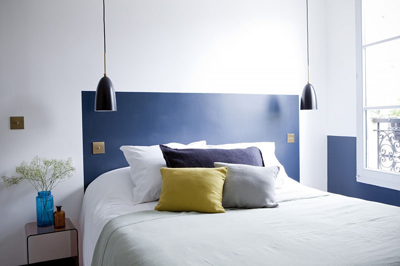 Low Budget Headboard Design Idea – Paint A Headboard Directly On The Wall