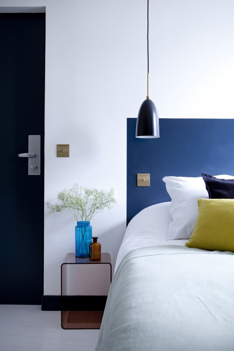 Low Budget Headboard Design Idea Paint A Headboard Directly On The Wall