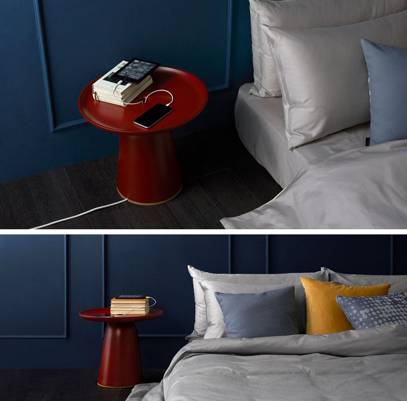 This Nightstand Lets You Hide Your Charging Cables Within It