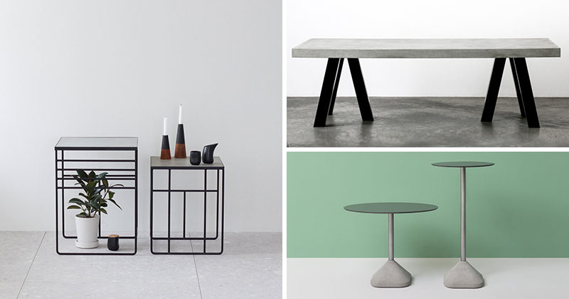 Merveilleux 10 Examples Of Concrete And Steel Tables To Add To Your Industrial Interior