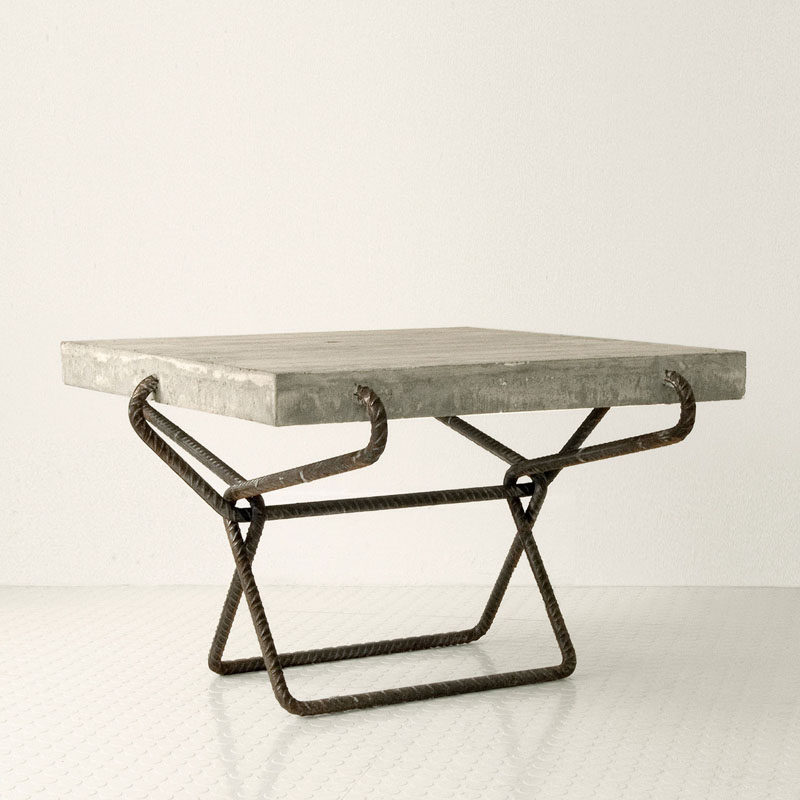 10 Examples Of Concrete and Steel Tables To Add To Your Industrial Interior // Inspired by elements we usually try to cover up, this tables leaves the roughness out in the open to create a raw and industrial piece of furniture.