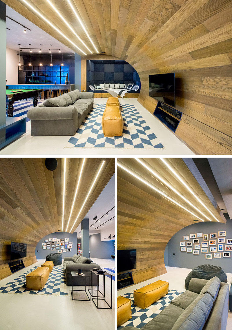 Man Cave Urban Key : Inhouse architects designed a quot man cave in the basement