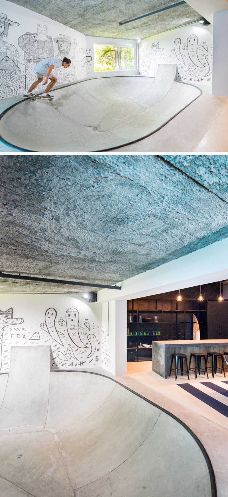 The Urban Man Cave : Inhouse architects designed a quot man cave in the basement