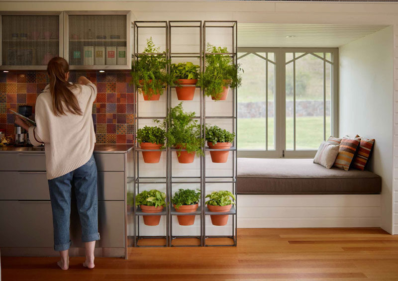 Create A Vertical Garden In Your Kitchen For Your Herb Garden.