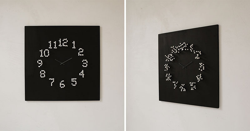 Vintage When you move around this clock for example side to side the numbers dissolve