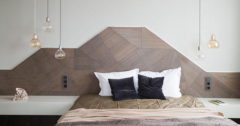 Headboard Design Idea - Create A Landscape Design From Wood