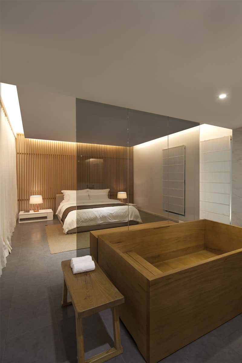 Wood Wall Design Bedroom