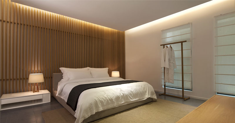 Fancy Bedroom Wall Design Idea Create A Wood Slat Accent Wall CONTEMPORIST