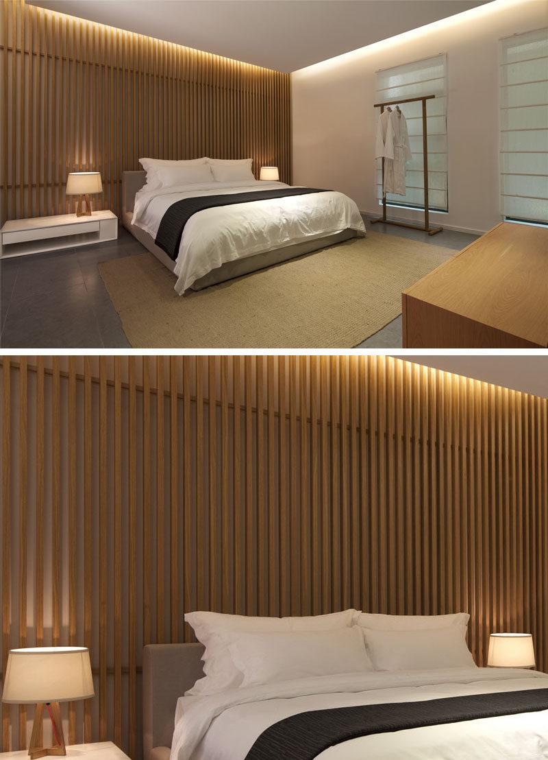 Bedroom Wall Design Idea Create A Wood Slat Accent Wall