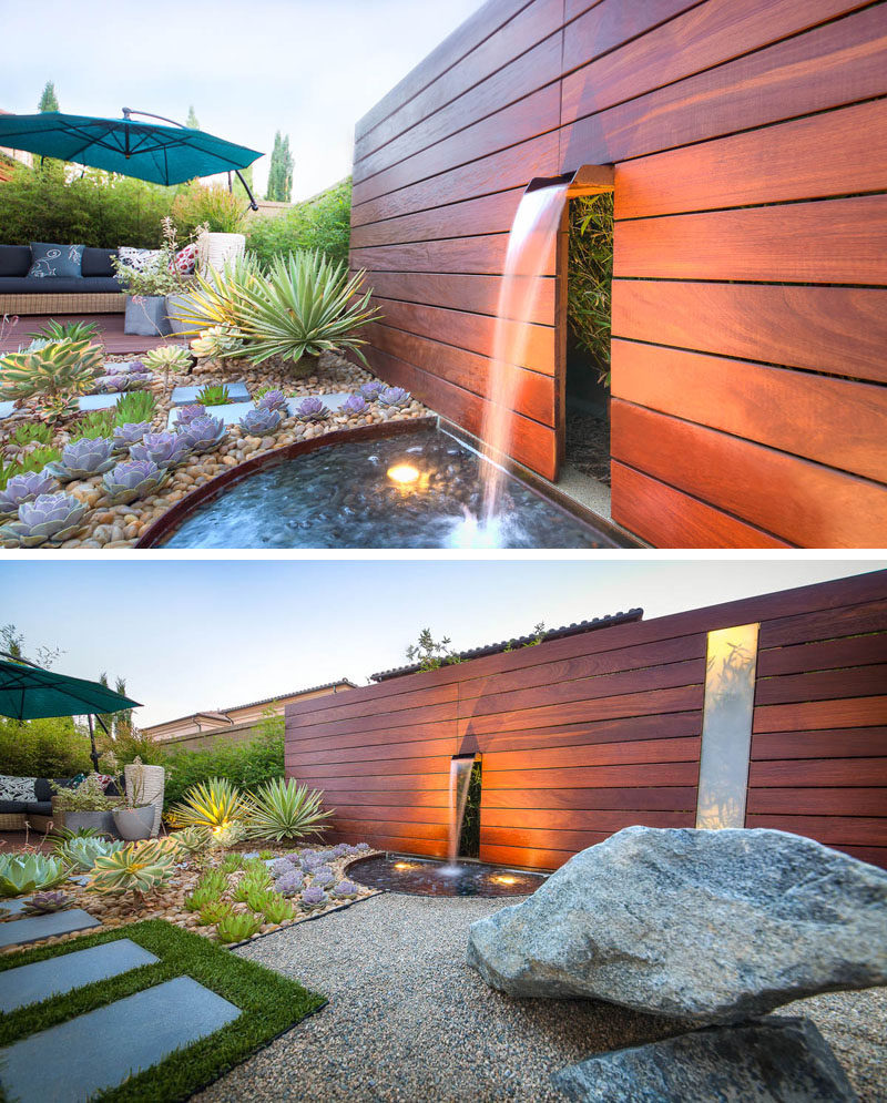 8 Elements To Include When Designing Your Zen Garden // A Water Feature -- Possibly one of the most relaxing sounds, running water from a water feature is also a key element in a zen garden design.
