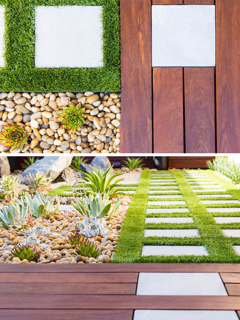 8 Elements To Include When Designing Your Zen Garden // Grass -- whether it is natural or artificial, including a small amount of grass softens up the backyard and with a small amount, it can be virtually maintenance free.