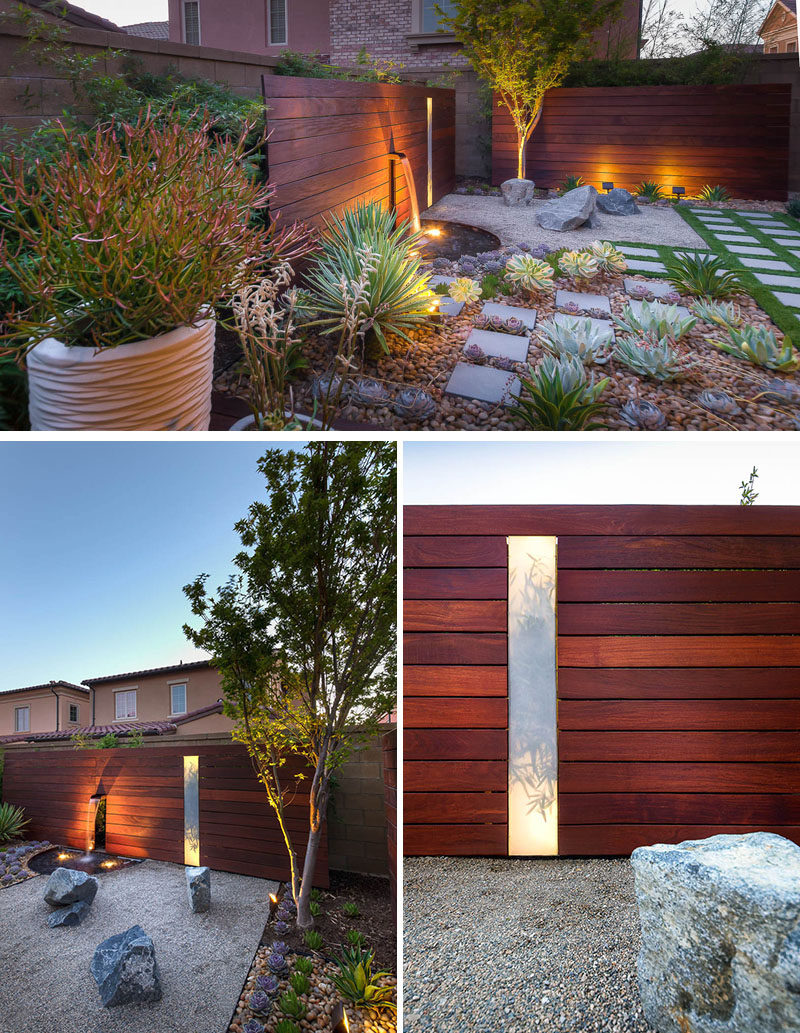 8 Elements To Include When Designing Your Zen Garden // Lighting -- The shadows created by the lights transforms your zen garden into a whole new environment and lets you appreciate your design in a whole new light.